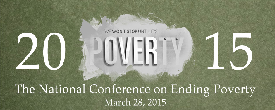 Register for the 2015 National Conference on Ending Poverty